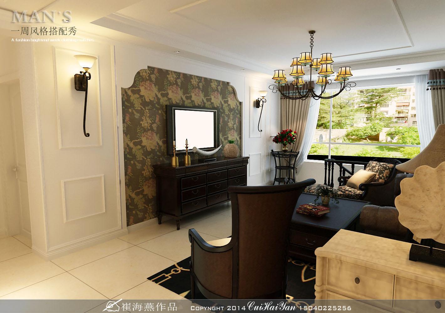 二居 客厅图片来自百家装饰小王在中海城88平的分享