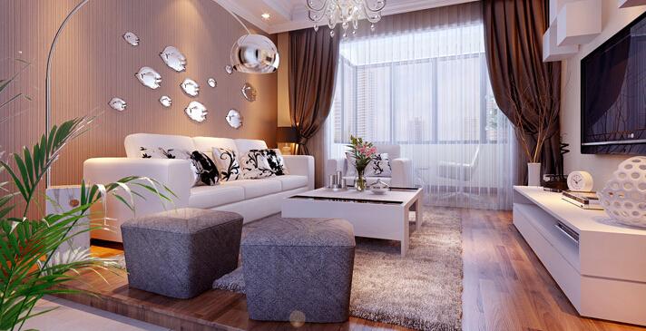 简约 一居 白领 收纳 80后 小资 客厅图片来自实创装饰百灵在60平米八家嘉苑现代简约1居的分享