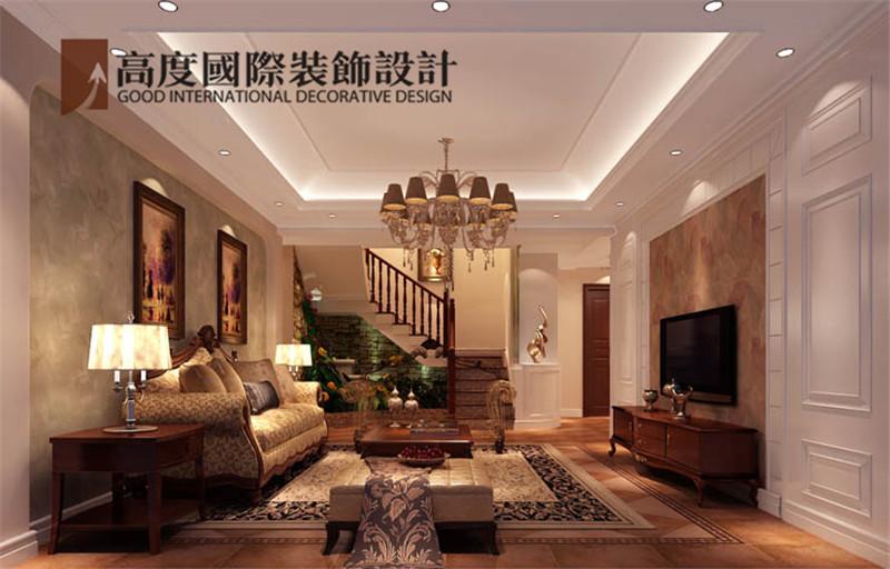 装饰 设计 案例 效果图 客厅图片来自高度老杨在中景江山赋 200平米 美式的分享