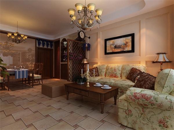 简约 欧式 田园 三居 客厅图片来自顾家装饰在美式田园的分享