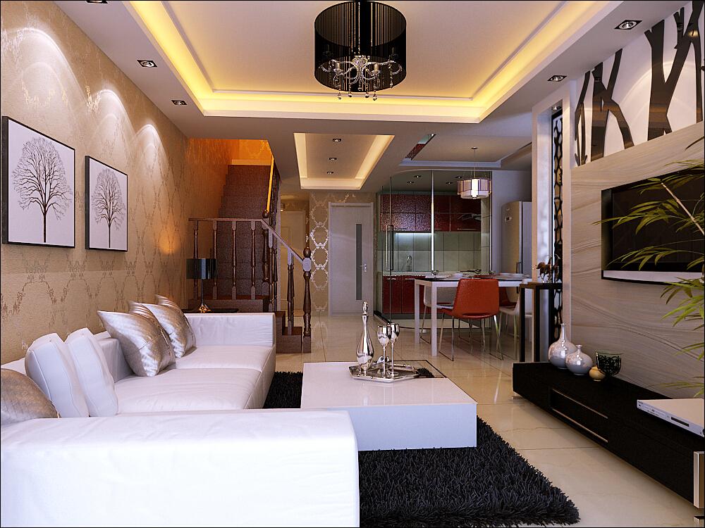 客厅图片来自今朝装饰小俊在低调奢华现代风的分享