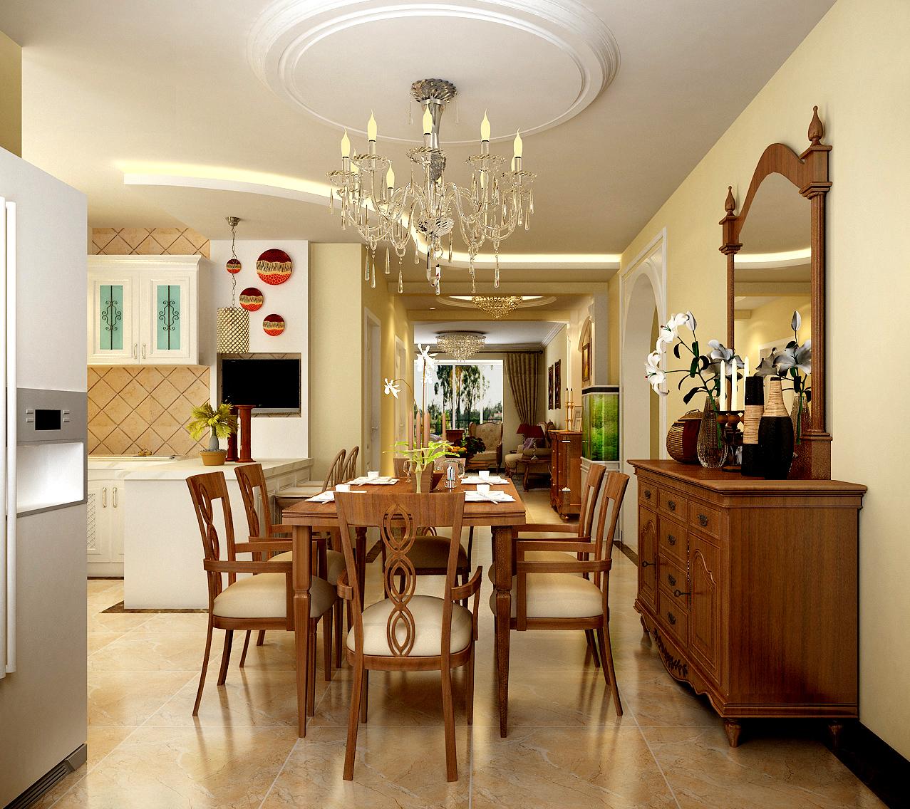 三居 欧式 简约欧式 80后 婚房 餐厅图片来自实创装饰都琳在80后大爱简欧风格的分享