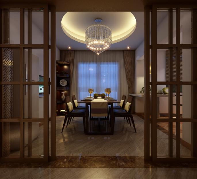 餐厅图片来自唯美装饰在都市经典180平简约中式风格的分享