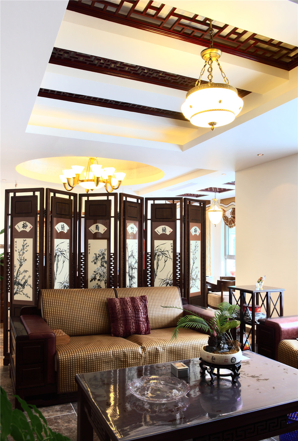 别墅 别墅装修 别墅设计 聚通装璜 实景展示 客厅图片来自jtong0002在别墅里的优雅美式风-实景展示!的分享