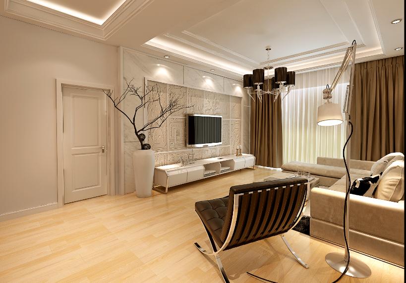 客厅图片来自唯美装饰在复地东湖国际130平现代简约的分享