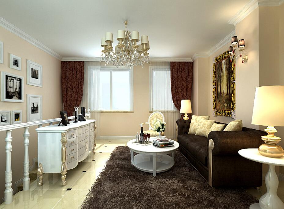 简约 欧式 三居 白领 收纳 80后 小资 客厅图片来自实创装饰百灵在欧式风格180平米风格与林的分享