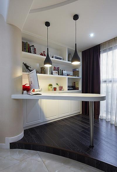 书房图片来自家装大管家在现代温馨 109平简约旅居生活的分享