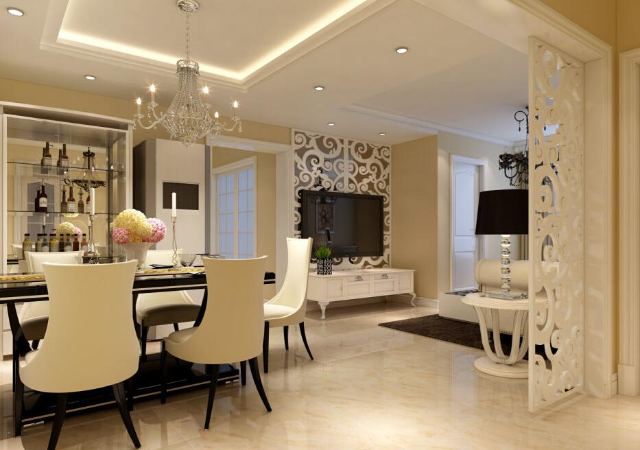 简约 欧式 三居 白领 收纳 80后 小资 餐厅图片来自实创装饰百灵在实用110平米效果具佳欧式3居的分享