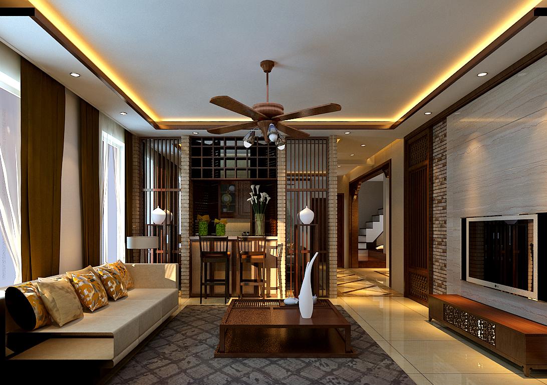 三居 客厅图片来自百家装饰小王在华润橡树湾76平复式的分享
