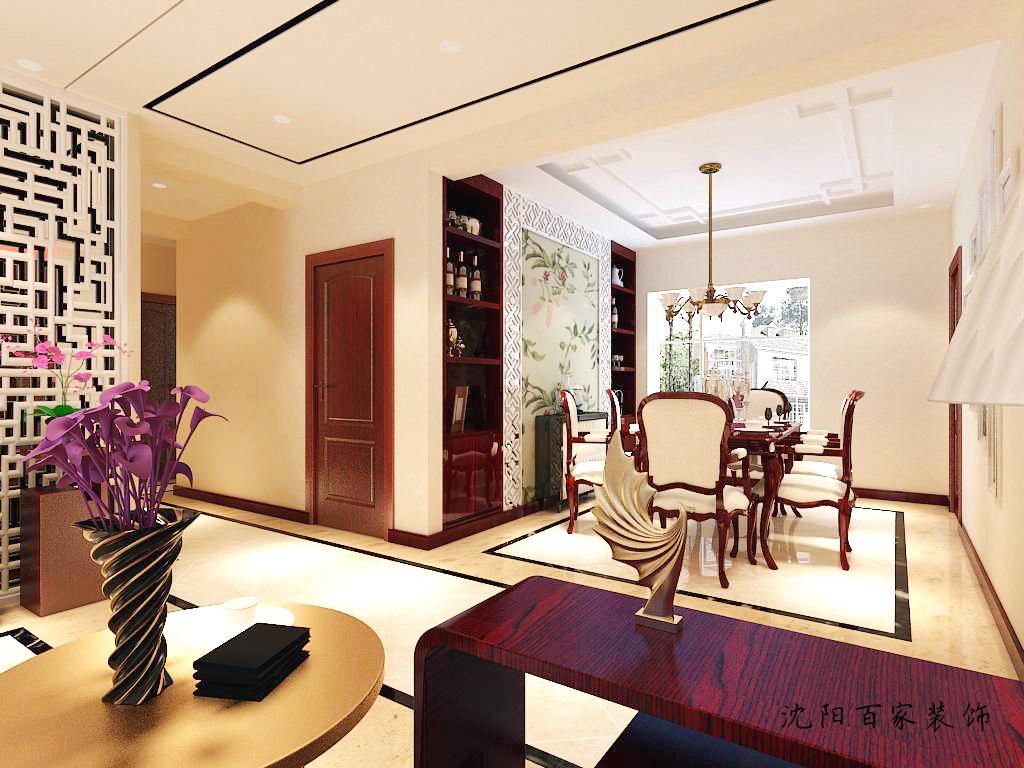 新中式 三居 客厅 餐厅 白领 小资 80后 简约图片来自百家装饰小米在沈阳保利达江湾城的分享