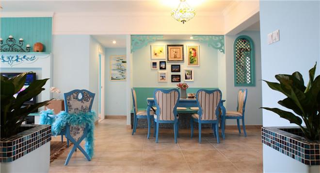 三居 白领 80后 小资 唯美 地中海 拼接 布艺沙发 餐厅图片来自2786584496x在唯美地中海的分享