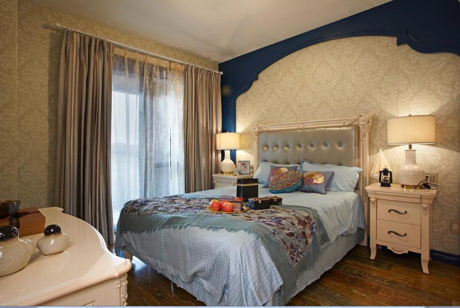 卧室图片来自唯美装饰在青城158地中海风格鉴赏的分享