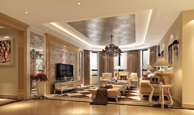欧式 小资 客厅图片来自高度国际宋书培在绿城百合公寓四居室装饰效果图的分享