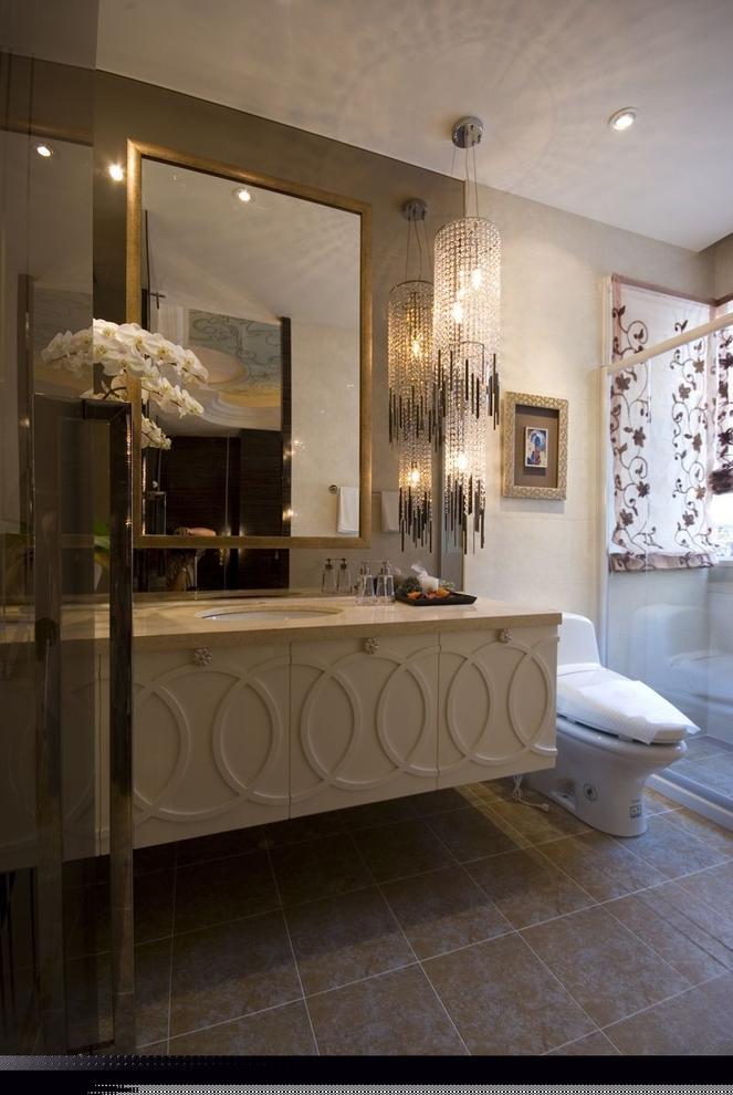 四居 现代混搭 阿拉奇设计 家庭装修 卫生间图片来自阿拉奇设计在摩纳哥风格大户型家庭装修的分享