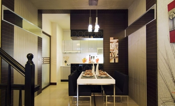 五居室 现代简约 餐厅图片来自百合居装饰工程有限公司在现代简约--恒禾皇冠国际社区的分享