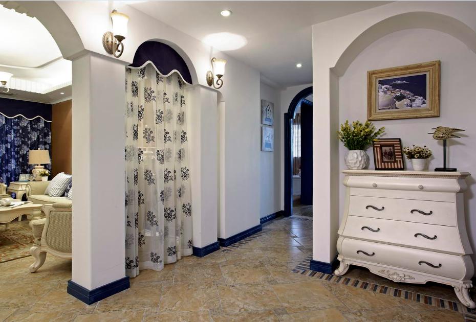玄关图片来自唯美装饰在青城158地中海风格鉴赏的分享