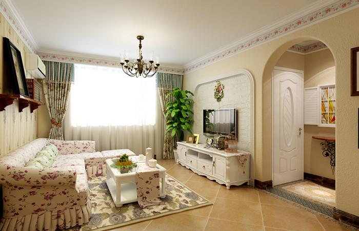 田园 二居 客厅图片来自今朝装饰李海丹在回龙观智慧社 田园风格的分享