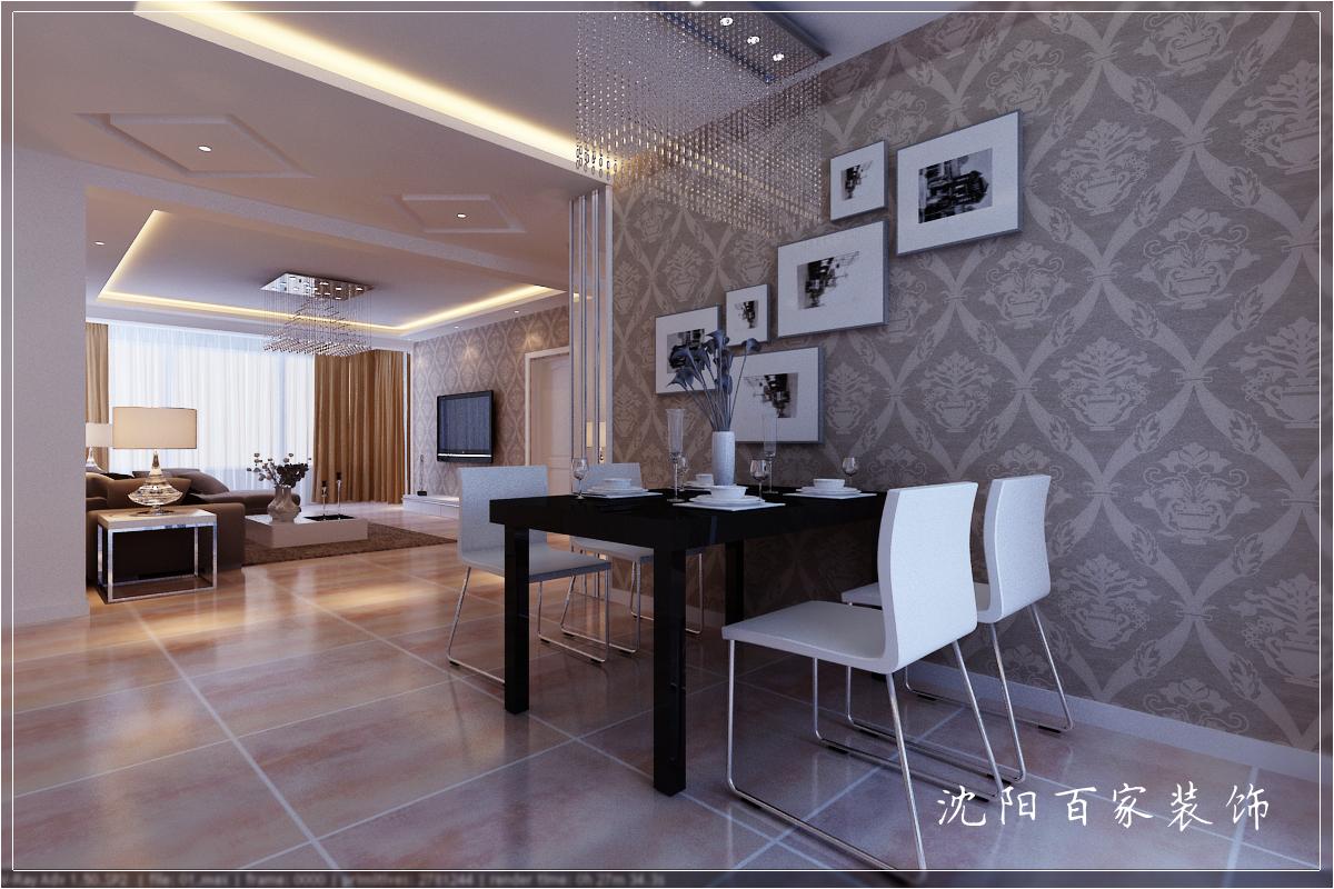 简约 三居 149平 白领 客厅 小资 80后 餐厅图片来自百家装饰小米在沈阳惠民新苑的分享