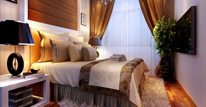 简约 一居 白领 收纳 80后 小资 卧室图片来自实创装饰百灵在60平米八家嘉苑现代简约1居的分享