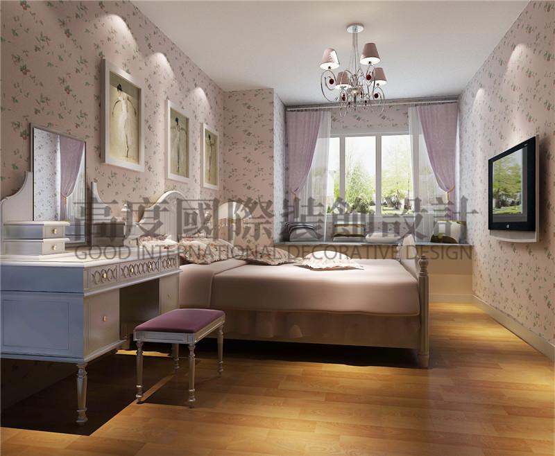 成都高度 别墅装修 别墅装饰 住宅装饰 中铁骑士公 90㎡ 现代简约 卧室图片来自北京高度国际装饰设计成都分公司在中铁骑士公馆-90㎡-现代简约的分享