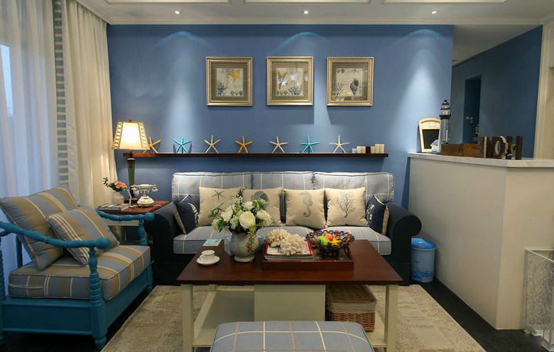 客厅图片来自今朝装饰小闫在地中海 幸福世家的分享