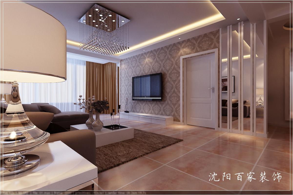 简约 三居 149平 白领 客厅 小资 80后 电视背景墙图片来自百家装饰小米在沈阳惠民新苑的分享