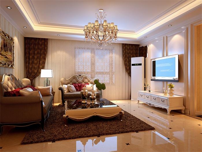 欧式 简约 客厅图片来自顾家装饰在四医大的分享