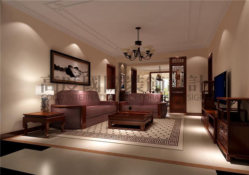 成都高度 别墅装修 别墅装饰 住宅装饰 汇锦城 138㎡ 新中式风格 客厅图片来自北京高度国际装饰设计成都分公司在汇锦城-138㎡-新中式风格的分享