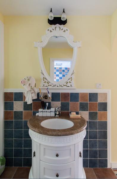 卫生间图片来自唯美装饰在保利时代91平田园风格的分享