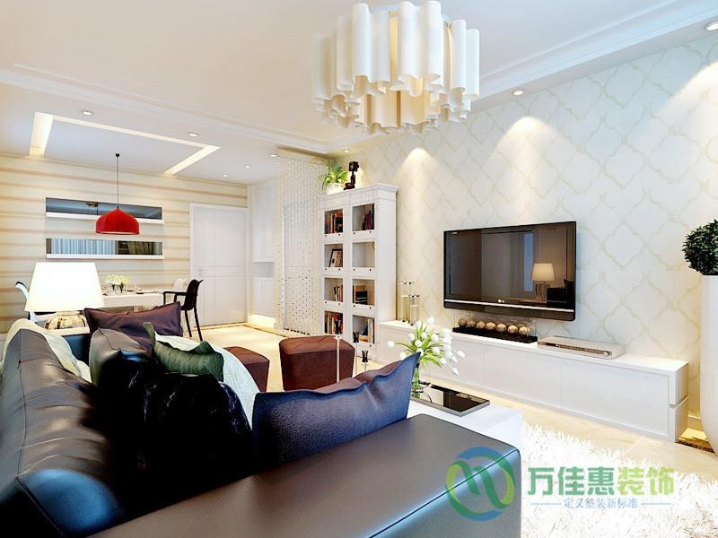 济南 华润中央 二居 现代简约 客厅图片来自济南万佳惠装饰在济南华润中央公园现代简约效果图的分享