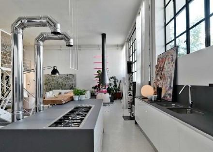 现代 美式 公寓 厨房图片来自百合居装饰工程有限公司在青年公寓--年轻人的天堂的分享