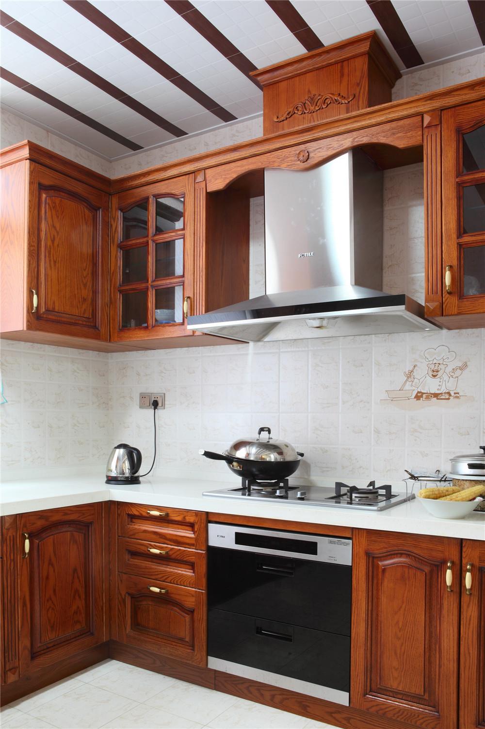 别墅 别墅装修 别墅设计 聚通装璜 实景展示 厨房图片来自jtong0002在别墅里的优雅美式风-实景展示!的分享