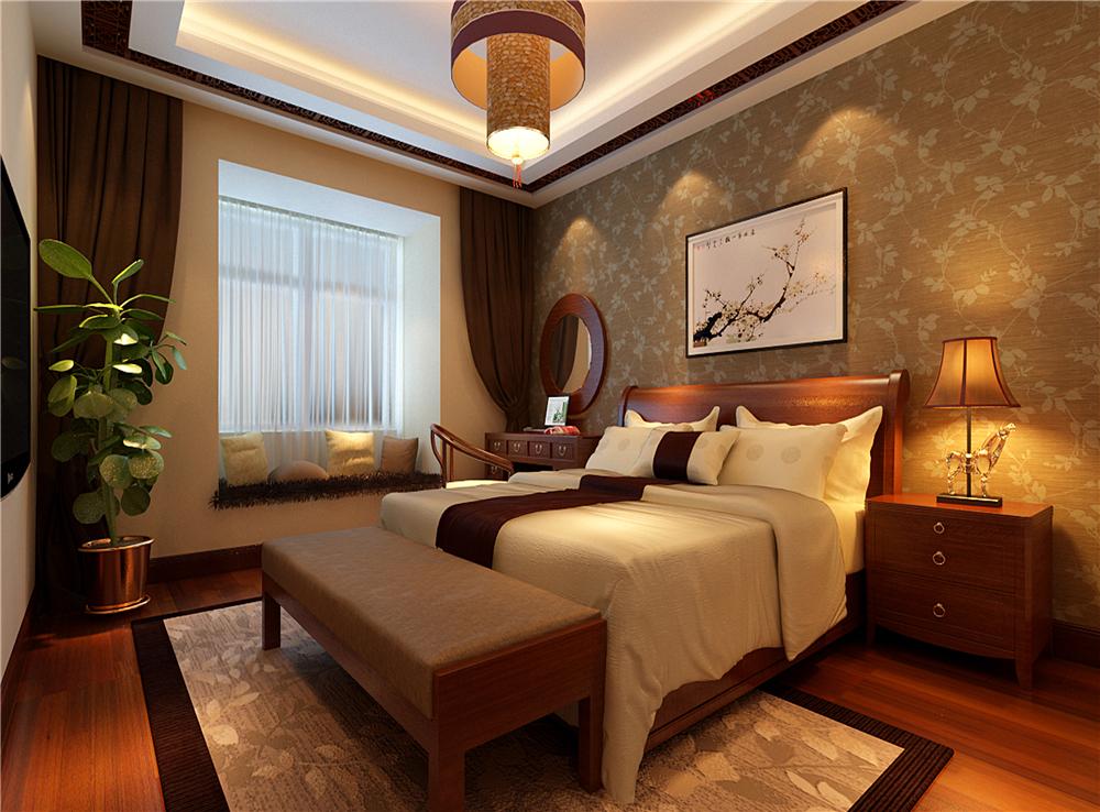 三居 中式 白领 收纳 卧室图片来自装饰装修-18818806853在典雅新中式三居的分享