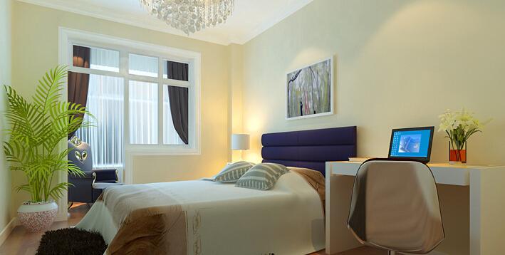 简约 二居 白领 收纳 80后 小资 卧室图片来自实创装饰百灵在老房翻新80平米阜光里2居案例的分享