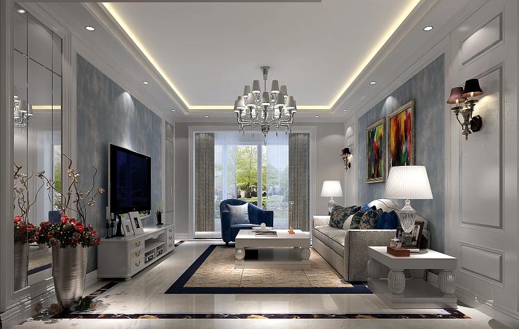 现代风格 三居 80后 客厅图片来自高度国际宋书培在江南山水三居室装饰效果图的分享