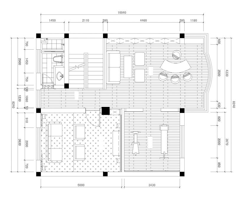 简约 欧式 田园 混搭 二居 三居 别墅 白领 户型图图片来自元洲装饰木子在远洋奥北的分享