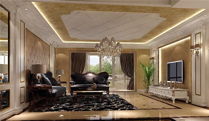 欧式 小资 客厅图片来自高度国际宋书培在华侨城四居室装饰效果图的分享