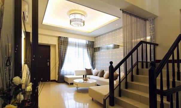 五居室 现代简约 楼梯图片来自百合居装饰工程有限公司在现代简约--恒禾皇冠国际社区的分享