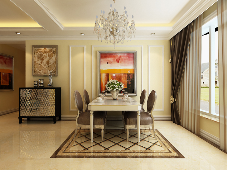 欧式 三居 白领 80后 小资 餐厅图片来自石家庄业之峰装饰在保利花园124平米欧式风格装修的分享