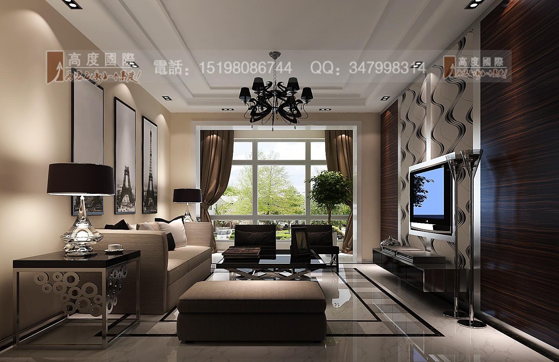 世茂玉锦湾 时尚风格 客厅图片来自成都高度国际别墅装饰在世茂玉锦湾------时尚现代风格的分享