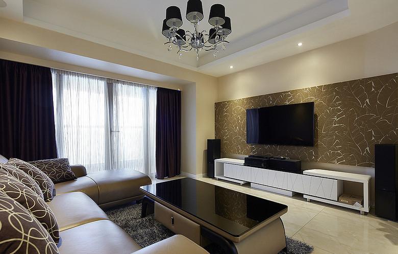 客厅图片来自家装大管家在现代温馨 109平简约旅居生活的分享