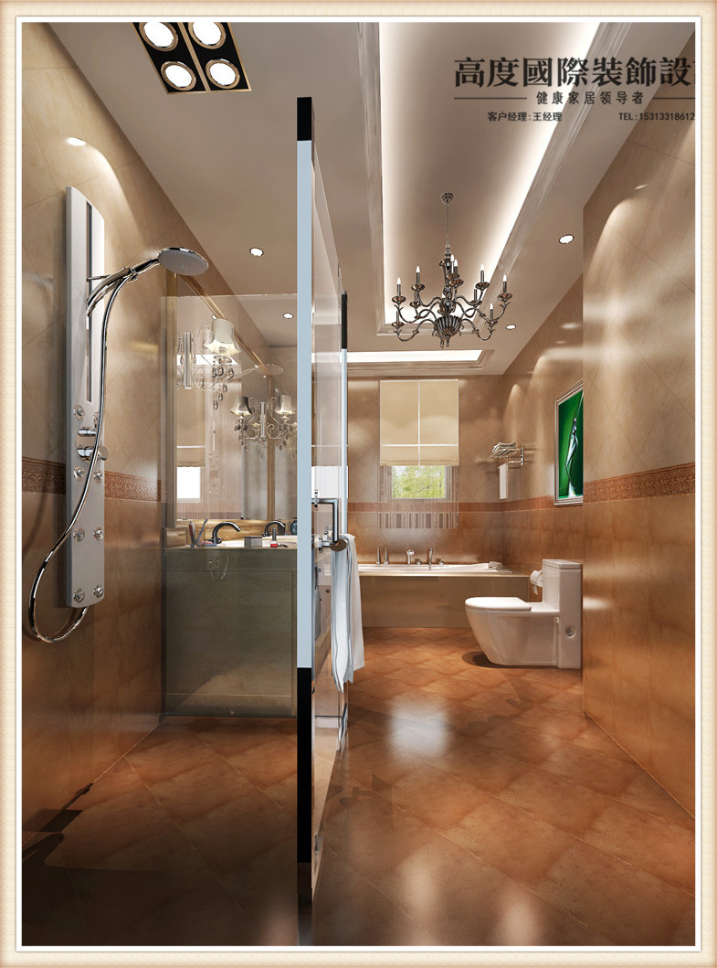 托斯卡纳 别墅 卫生间图片来自高度国际宋书培在龙山逸墅—别墅装饰效果图的分享