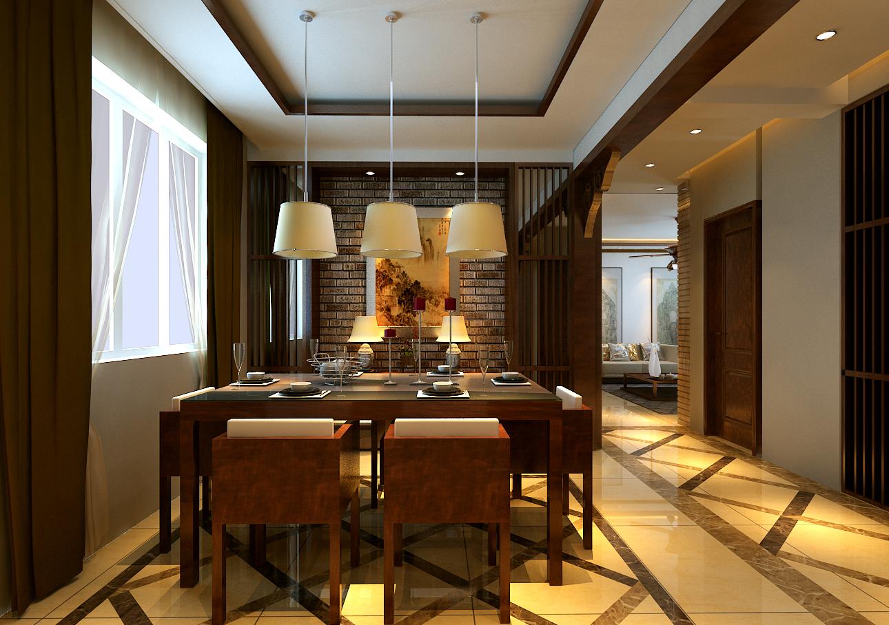 三居 餐厅图片来自百家装饰小王在华润橡树湾76平复式的分享