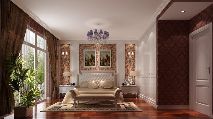 简欧 别墅 卧室图片来自高度国际宋书培在鲁能七号院—别墅装饰效果图的分享