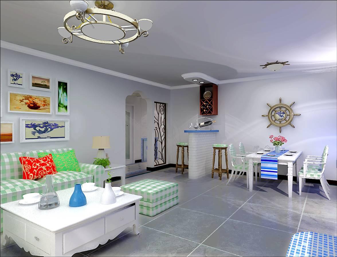 地中海 客厅图片来自今朝装饰李海丹在地中海设计案例的分享