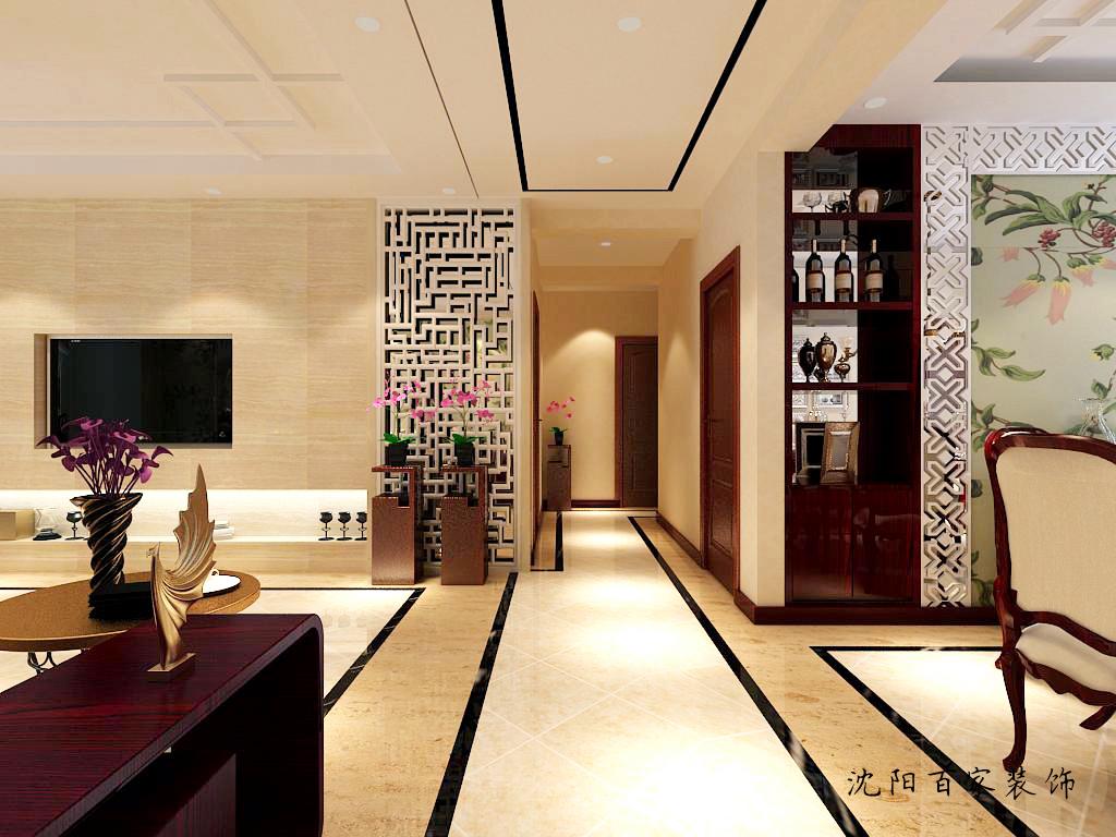 新中式 三居 客厅 餐厅 白领 小资 80后 简约 过廊图片来自百家装饰小米在沈阳保利达江湾城的分享