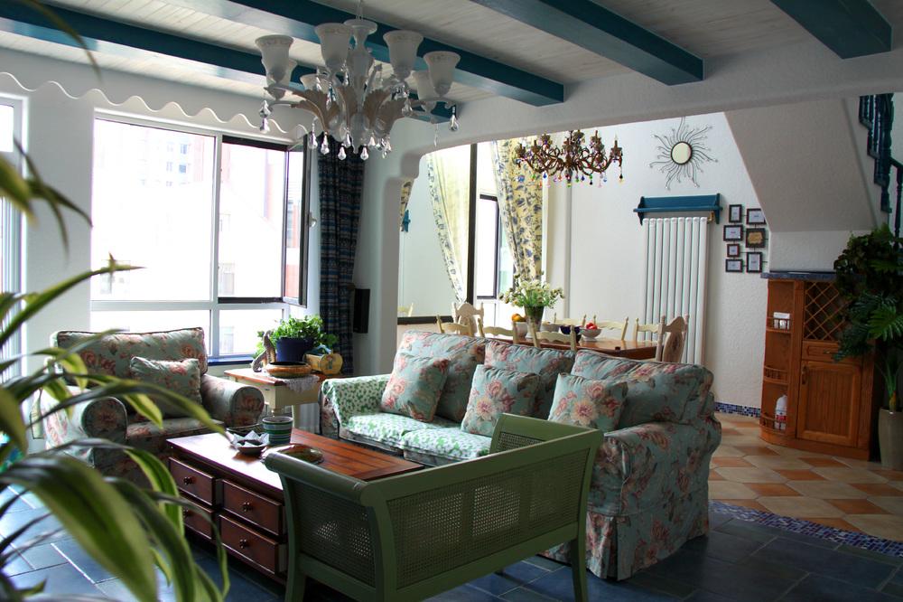 三居 白领 收纳 旧房改造 80后 苹果装饰 地中海 别墅装修 长沙别墅 客厅图片来自苹果装饰公司在万国城地中海风格欣赏的分享