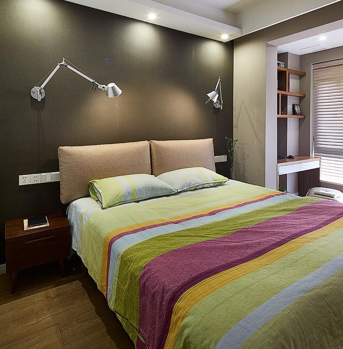 现代 北欧 卧室图片来自佰辰生活装饰在历时半年打造现代偏北欧风格的家的分享