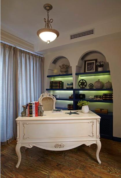 书房图片来自唯美装饰在青城158地中海风格鉴赏的分享