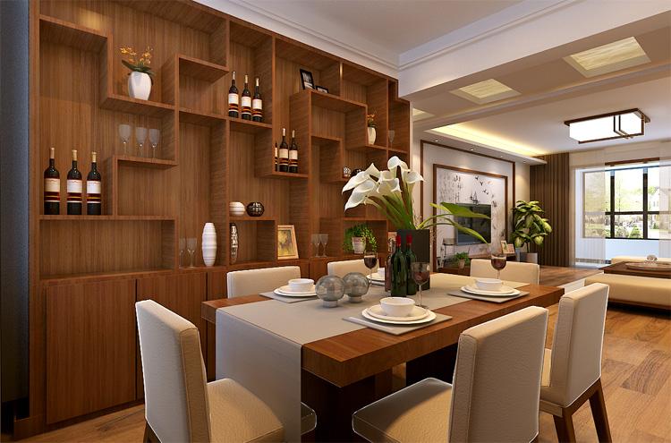 轻工业家属 套餐装修 三室两厅 新中式 餐厅图片来自艺尚装饰-李帅在轻工业学院-新中式-文化底蕴的分享